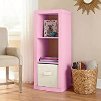 Better Homes and Gardens 3-Cube Organizer Storage Bookshelf (Pink)