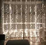 lebefe 9.84ft x 9.84ft (3M x 3M) 300 Led Connectable Curtain Lights can offer a warm and inviting shine, help to create a nice ambiance atmosphere, they are the best decoration choice for various home events, parties and celebrations.Specific...