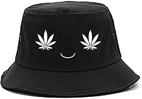 Fashionisgreat Girl Weed Smiley Face Womens Bucket Hat Black at Amazon  Women's Clothing store