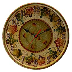 Italian Dinnerware - Small Wall Clock - Handmade in Italy from our Terre Di Chianti Collection