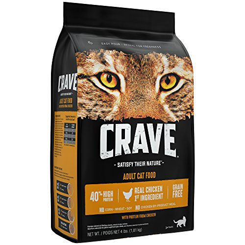 Crave Grain Free With Protein From Chicken Dry Adult Cat Food, 4 Pound Bag