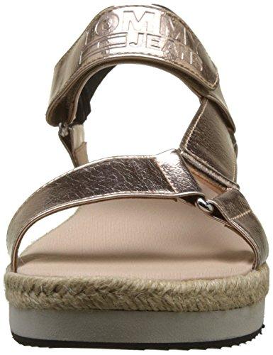 Hilfiger Denim Damen Frisse Moderne Metallic Sandaal Slingback Roze (rose Goud 638)