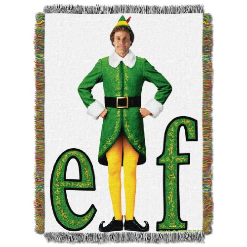 Warner Bros Elf, Elf Pose Woven Tapestry Throw Blanket, 48