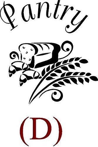 CreativeSignsnDesigns [Creative Signs N Designs, Pantry Door Design Decals D Black