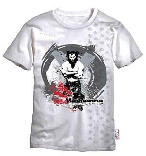 WOLVERINE X-MEN - GEKREUZT ARMS - MARVEL COMICS EXTREME - OFFICIAL MENS T SHIRT - Weiß, S