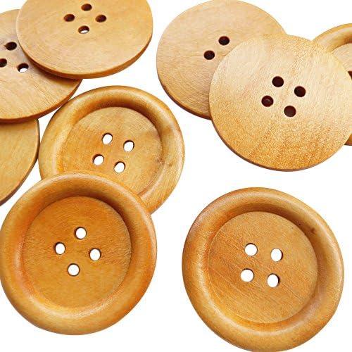 50mm x 2 Large Round Button Orange