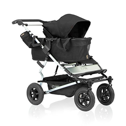 Reversible Single Stroller Liner - Mountain Buggy Duet Single Buggy, Black