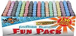Chalk City - 136 Pack 17 Colors Jumbo Wa...