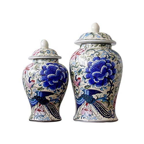 SXBISHENG Cremation urns,Urns for Human Ashes,Neo-Classical Ceramic urns Artwork urns Made of Exquisite Craftsmanship Large and Small 2 ash for Burying Humans