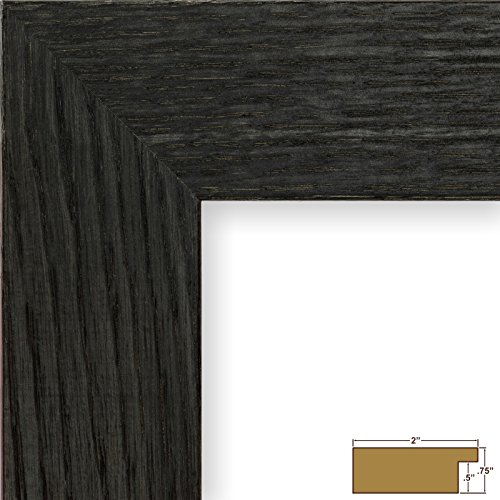 Country Oak Picture Frame (Craig Frames 80598967 5 by 7-Inch Picture Frame, Solid Oak, Heavy Wood Grain, 2-Inch Wide, Black Oak)