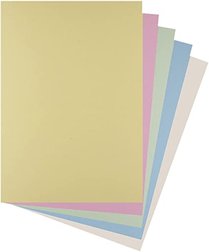 A4 Assorted Pastel Coloured Card 220gsm Pack of 30
