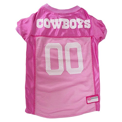 Pets First NFL Dallas Cowboys Pet Jersey, Medium, pink ()