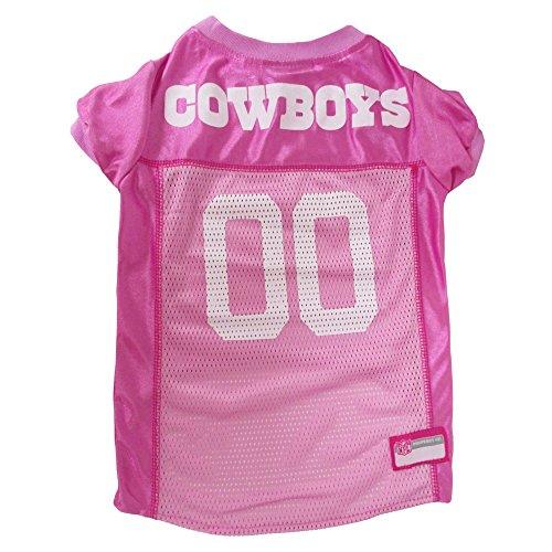 Pets First NFL Dallas Cowboys Pet Jersey, Medium, pink