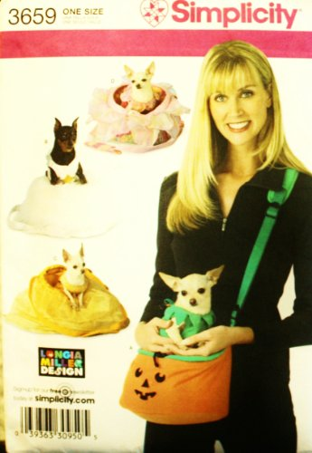 Cup Of Tea Costumes (Simplicity Sewing Pattern 3659 - Use to Make - Tea Cup Dog Costumes and Carriers - Small Dogs 4 to 8 Pounds)