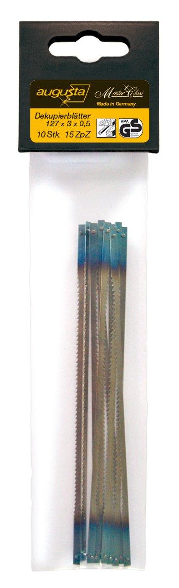 Augusta 0735 AMA - Hojas de sierra de marqueterí a (127 x 3 x 0, 5) 0735 127x3x0
