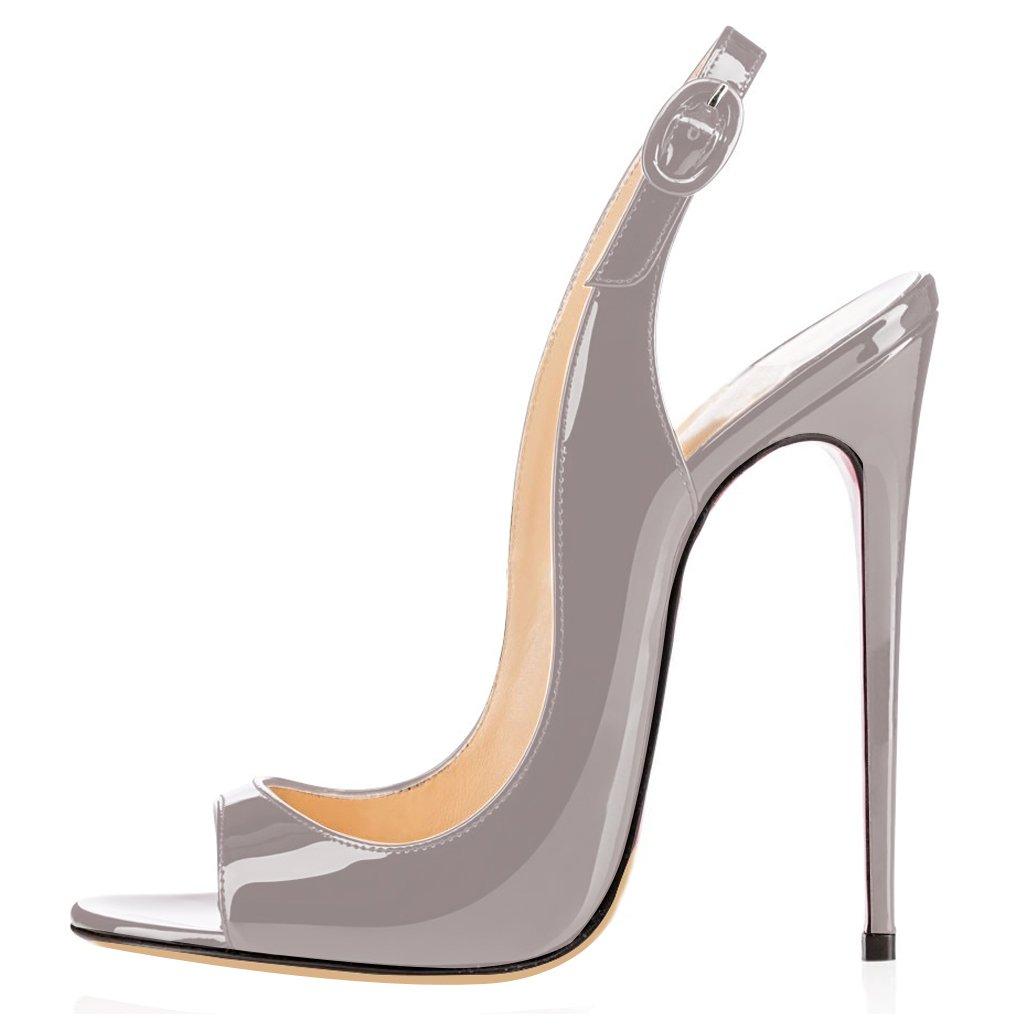 elashe Femmes Artisan Artisan Fashion 120mm Sandales Décolletés Bout Ouverts 19995 Chaussures à Talon Haut de 120mm Gris 22a6a07 - reprogrammed.space