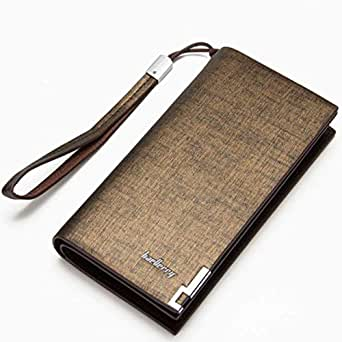 Baellerry Gold Faux Leather For Men - Bifold Wallets