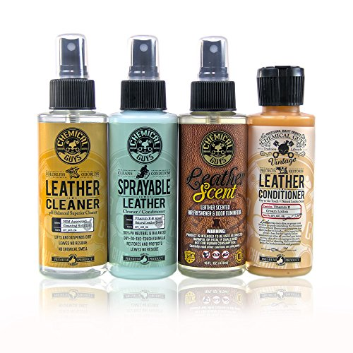 Chemical Guys HO_L117 Leather Lovers Sample Kit (4 Items) (Leather Conditioner Sample compare prices)