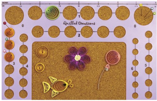 - Quilled Creations Circle Template Board, 5-Inch by 8-Inch