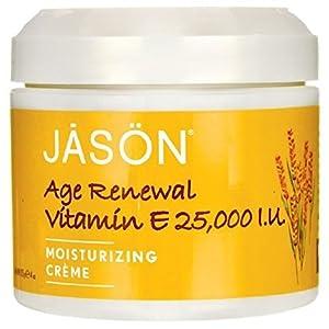 Age Renewal Vitamin E Creme 25,000 IU Jason Natural Cosmetics 4 oz Cream