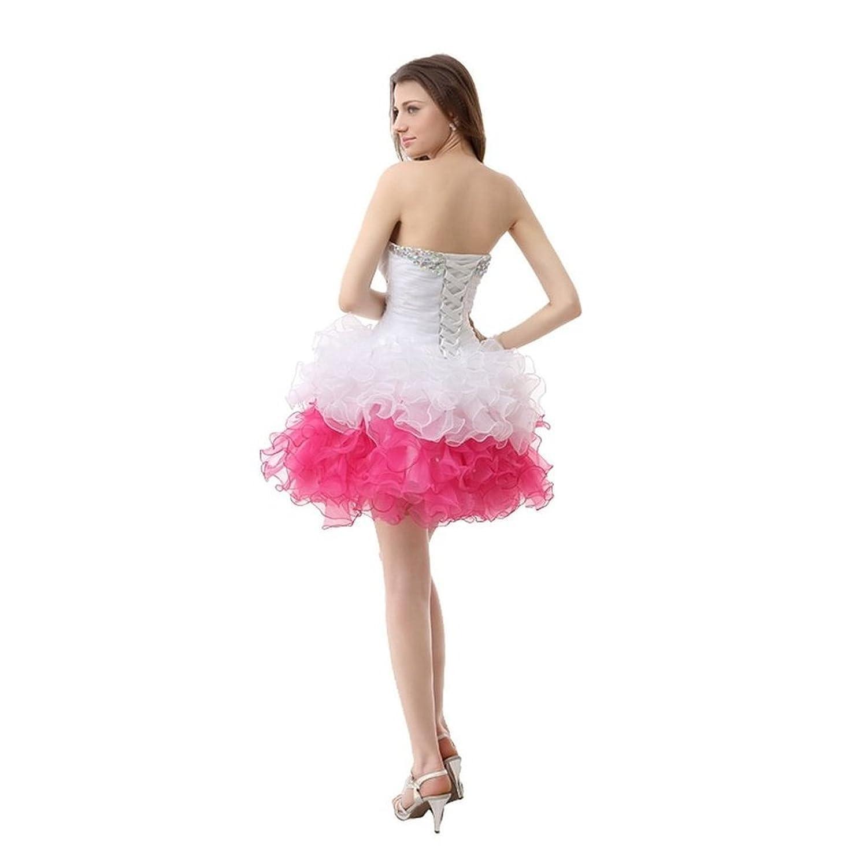 BessWedding Bead Ruffled Cocktail Dresses 2016 Short Homecoming Dress for Girls