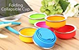 NiceWaveSilicone Portable Collapsible Folding Cup for Outdoor Camping Hiking Mountaineering