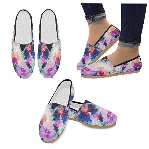 M-story Fashion Sneakers Flat Cartoon Blue Dogs Womens Classic Slip-on Scarpe Di Tela Mocassini Multi12
