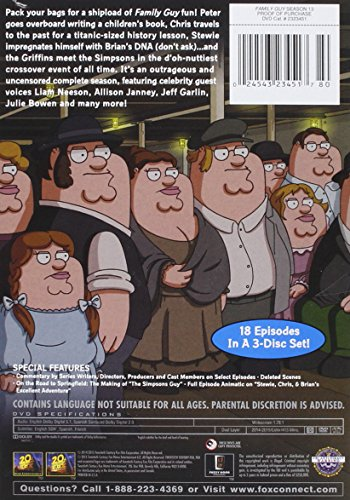Family Guy Season 13 Dvd