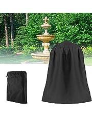 "UCARE Outdoor Garden Fountain Covers Waterproof Dustproof Statue Protective Cover for Winter Patio Water Fountains Statues, 48""x68"" Fountain Cover (Black)"
