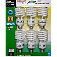 Sylvania CFL 2700K 100W Replacement Bulbs (Pack of 6, Model X21534)