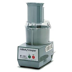 Robot Coupe R101P 1.9-Liter Combination Food Processor, Polycarbonate Bowl, Gray, 120v
