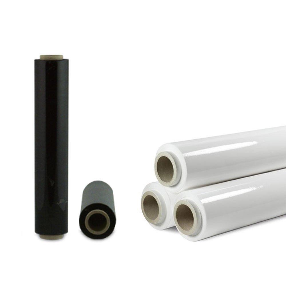 Rotolo film pellicola bianco o nero estensibile per imballaggi traslochi casa (BIANCO PB3K) Bricobravo