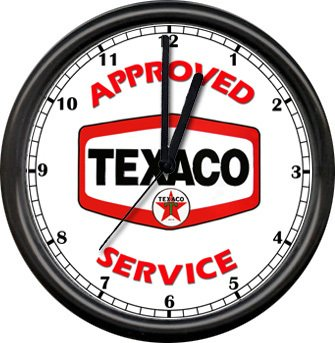 CLR Decals Texaco Approved Service Station Clock Full Color Window Decal Sticker
