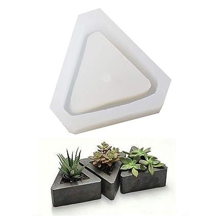 Cube Flower Pot DIY Silicone Molds Garden Planter Cement Concrete Vase Moulds