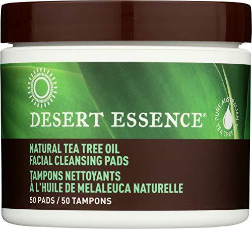 - Desert Essence (NOT A CASE) Natural Tea Tree Oil Facial Cleansing Pads Original, 50 pc