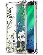 Oihxse Cristal Compatible con Samsung Galaxy A41 Funda Transparente TPU Silicona Estuche Airbag Esquinas Anti-Choque Anti Rasguños Diseño Rosa Flower Caso (Flores A4)