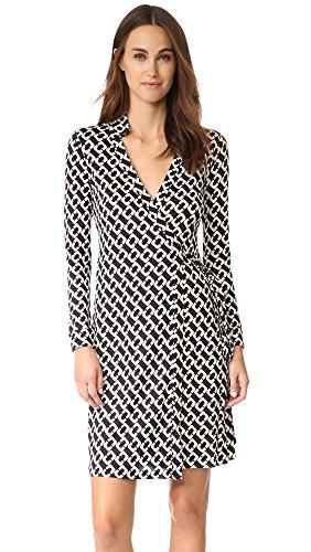 Diane von Furstenberg Women's New Jeanne Two Wrap Dress, Chain Link Medium, 2