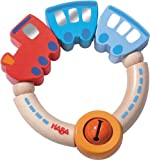 Haba Jingle Train Wooden Rattle Clutching Toy