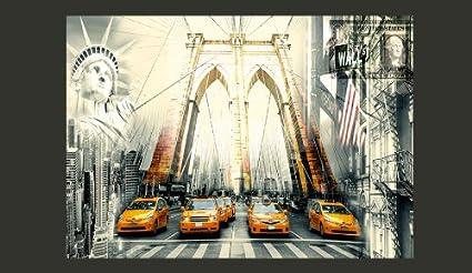 murando Papier peint intiss/é 100x70 cm D/écoration Murale XXL Poster Tableaux Muraux Tapisserie Photo Trompe loeil New York 10110904-2