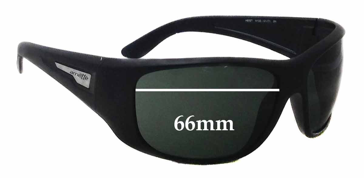 ce685f4c7c Amazon.com  SFx Replacement Sunglass Lenses fits Arnette Heist AN4135 66mm  wide (Polycarbonate Clear Hardcoat Pair-Regular)  Clothing