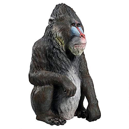 Design Toscano NE140094 Mandrill The World's Largest African Monkey Statue, Full - African Monkeys