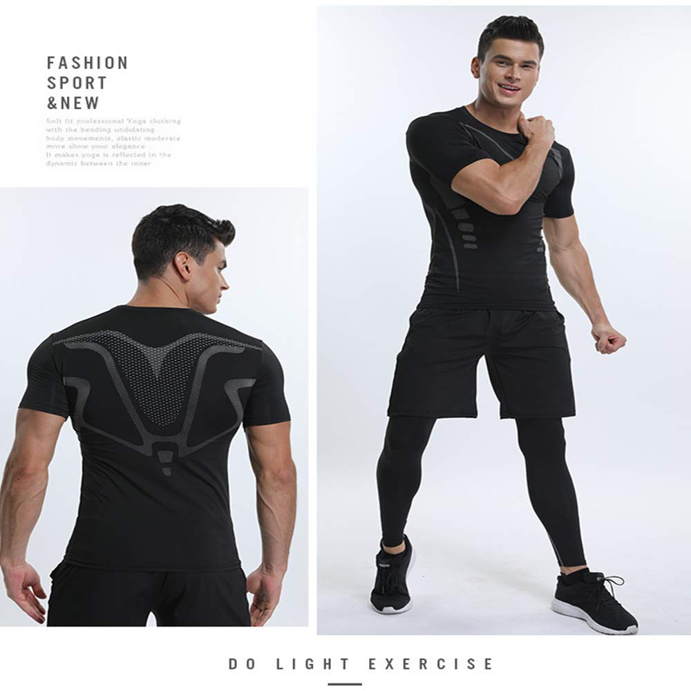 Bsadne 3 Mens Fitness Suit Loose Shorts Sportswear Tight Pants for Running Bottom Shirts