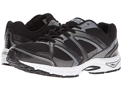 Avia Men's Avi-Execute-II Running Shoe, Black/Metallic Iron Grey/Chrome Silver, 12 M US