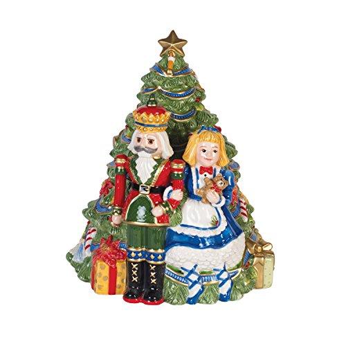 Fitz and Floyd 55-050 Christmas Nutcracker Cookie Jar Red/Green/Tan - Fitz And Floyd Cookie Jar