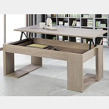 Table Basse Relevable Couleur Bois Clair Monaco Amazon Fr Cuisine