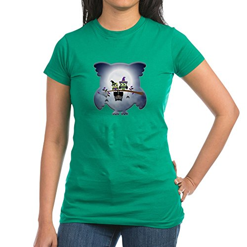 Truly Teague Junior Jr. Jersey T-Shirt (Dark) Little Spooky Vampire Owl with Friends - Kelly Green, Medium -