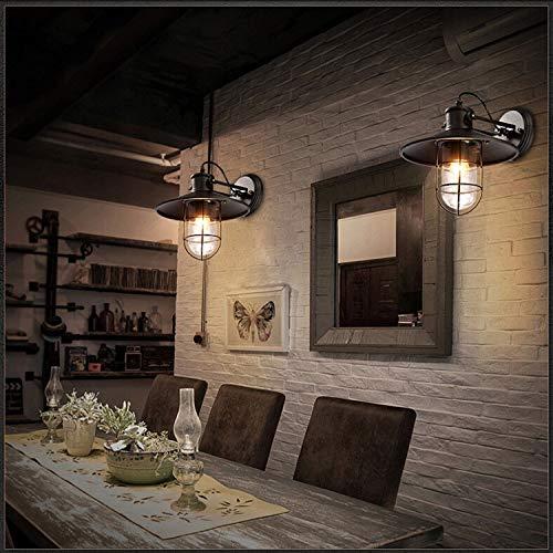 JINSH Home Loft Schmiedeeisen Retro industrielle Wand Lampe Bar Schmiedeeisen Wand Lampe American Lager Restaurant Gang Vogel Käfig Lampe