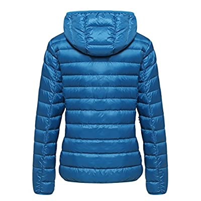 Wantdo Women's Hooded Packable Ultra Light Weight Short Down Jacket: Clothing