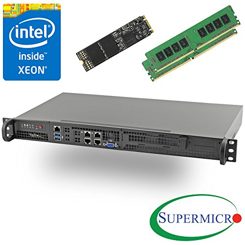 Supermicro 5018D-FN4T Xeon D 8-Core Front 1U Rackmount,Dual 10GbE w/ 32GB, 512G M.2 SSD