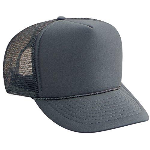 Wholesale Trucker Caps (Otto Caps Wholesale Mesh Trucker Hats (12 Hats) - Char.Gray)